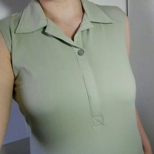 Travelsmith long sage green dress womens Size M